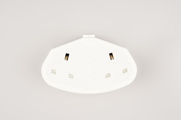 13A 2-Gang Rubber Socket - WHITE