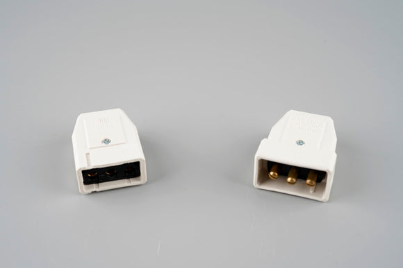 10A 3 pin Plug and Socket Cable Connector