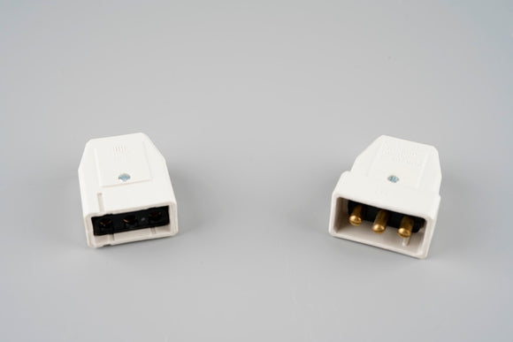 5A 3 Pin Plug and Socket Cable Connector