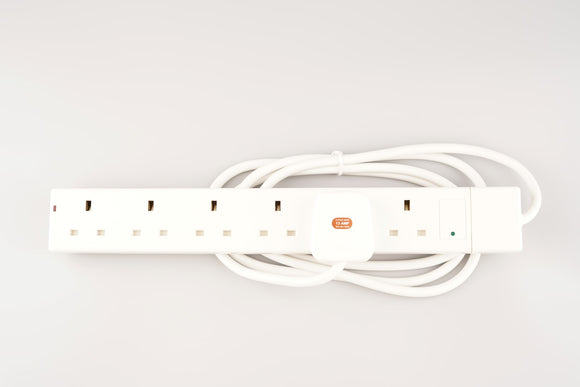 6 Way / 2 Metre SURGED Extension Lead