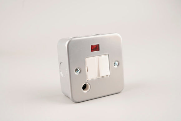 Metal Clad – ASTA 13A Switched Fused Spur Unit with Neon and Flex Outlet