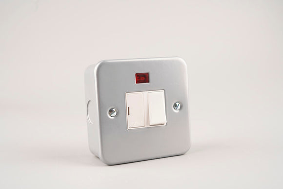 Metal Clad – ASTA 13A Fused & Switched Spur Unit with Neon