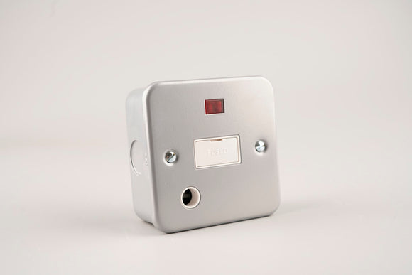 Metal Clad – ASTA 13A Fused Spur Unit With Neon and Flex Outlet
