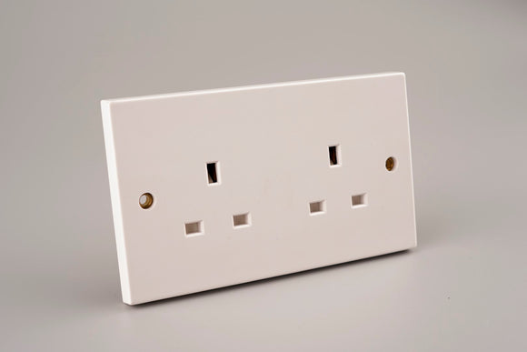 ASTA 13A 2Gang Twin Socket
