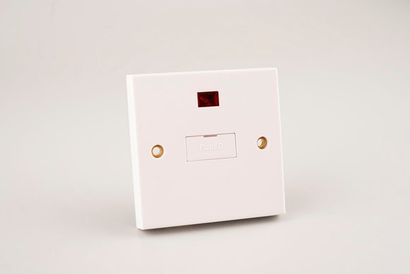 ASTA 13A Fused Spur Unit with Neon White