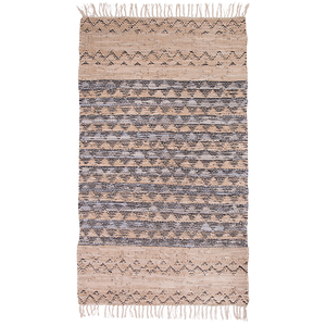 Spruce Leather/ Cotton Rug