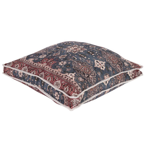 Shiraz walled cushion ~ Denim