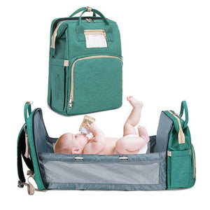 Diaper Backpack With Fold-Out Bed