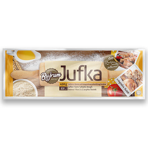 BUJRUM Jufka Integralna Whole Grain Phyllo 18/450g [Frozen]