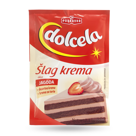 DOLCELA Slag Cream Strawberry 18/66g