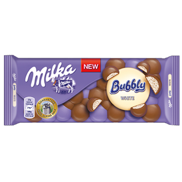 MILKA Bubbly White 15/95g