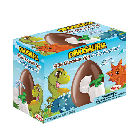 ZAINI Chocolate Egg & Toy Dinosaurs 4/12x20g