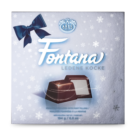 KRAS Christmas Navlaka Fontana Filled Choc Box 12/194g