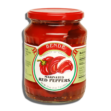 BENDE Marinated Red Peppers 12/23oz
