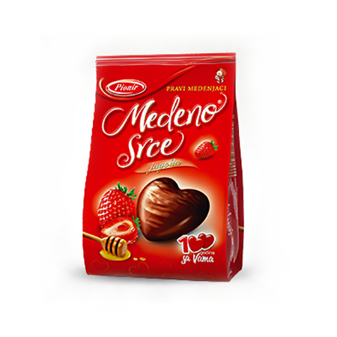 PIONIR Medeno Srce Jagoda [Honey Hearts Strawberry] 24/150g