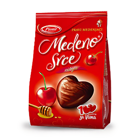 PIONIR Medeno Srce Honey Heart Cherry 24/150g