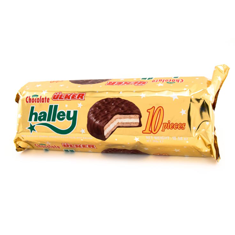 ULKER Halley Chocolate Cover Biscuit 12/300G