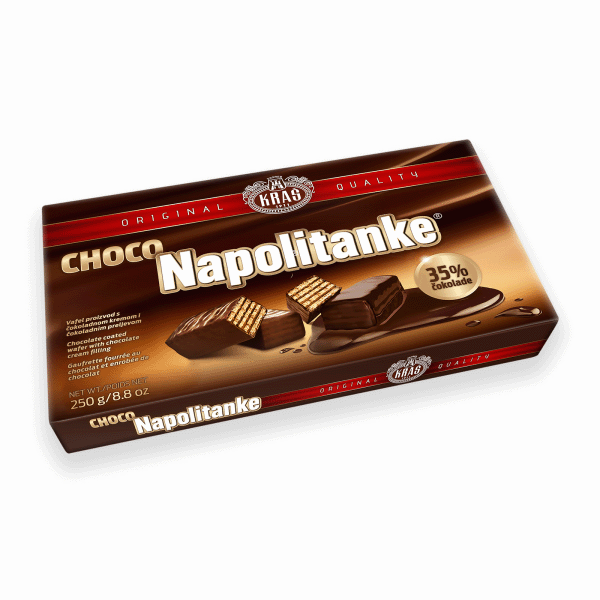 KRAS Napolitanke Chocolate Covered 12/250g