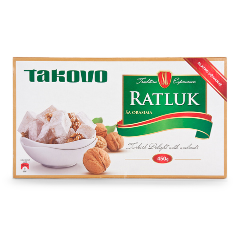 SWISS LION Ratluk [Jelly Candy Lokum with Walnuts] 12/450g