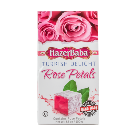 HAZERBABA Turkish Delight Rose Petal 4/6x100g