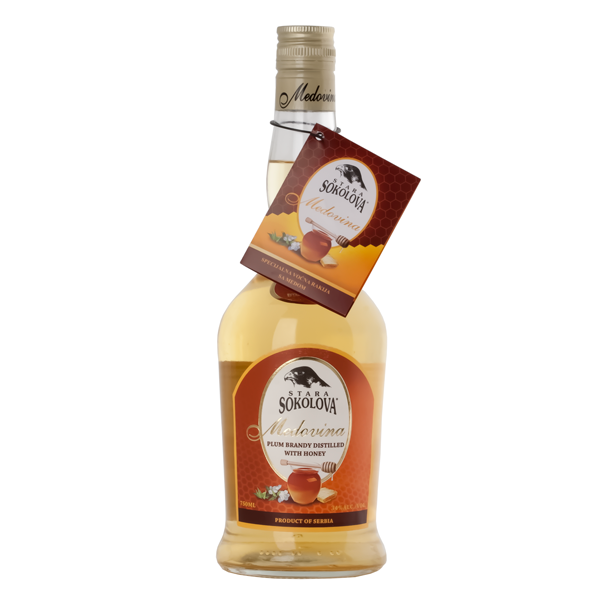 STARA SOKOLOVA Medovina [Plum Brandy w/Honey] 6/750ml