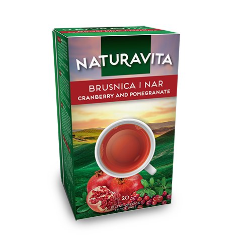 NATURAVITA Tea Cranberry & Pomegranate 12/46g