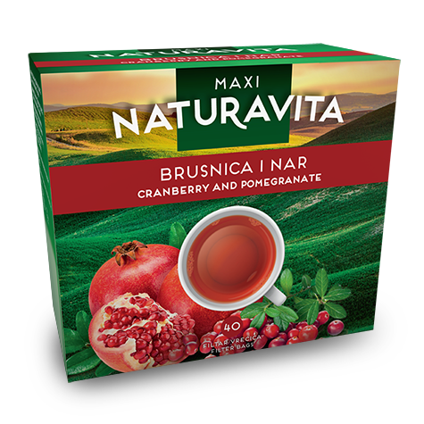 NATURAVITA Tea Cranberry & Pomegranate Maxi 16/92g
