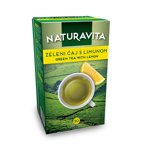 NATURAVITA Tea Green with Lemon 12/40g