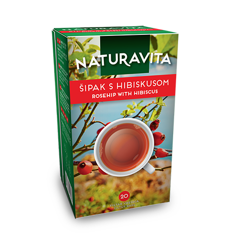 NATURAVITA Tea Rose Hip & Hibiscus 12/50g