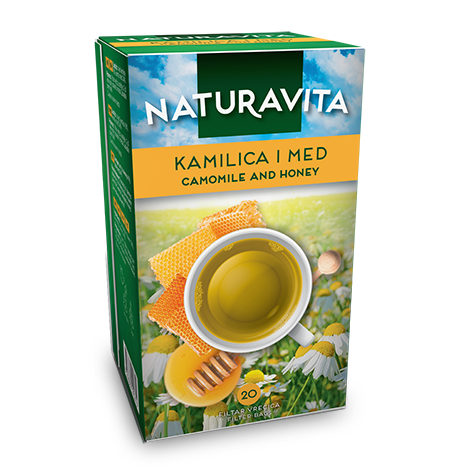 NATURAVITA Tea Chamomile with Honey 12/20g