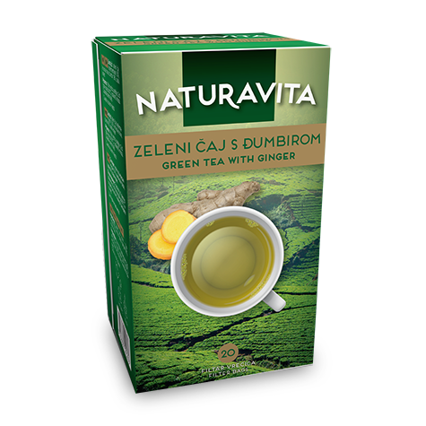 NATURAVITA Tea Green with Ginger 12/40g