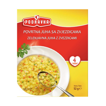 PODRAVKA Soup Vegetable Soup w/Star Pasta 15/52g