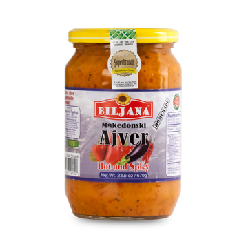 BILJANA Ajvar Makedonski Extra Hot and Spicy 12/670g [58048]