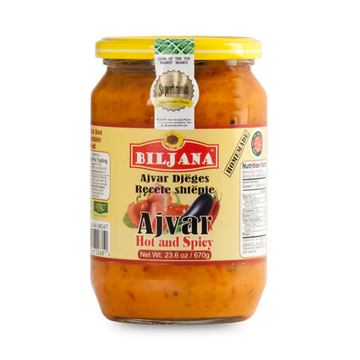 BILJANA Ajvar Shtepiake Extra Hot and Spicy 12/670g [58047]