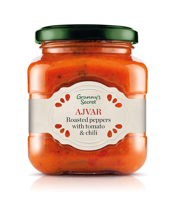 GRANNY'S SECRET Roasted Peppers w/Tomato & Spices [Lutenica] 6/550g