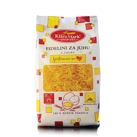 KLARA MARIC Durum Wheat Fidelini 8/400g