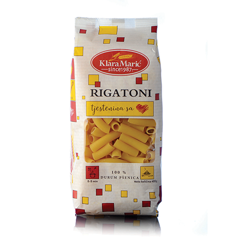 KLARA MARIC Durum Wheat Rigatoni 12/400g