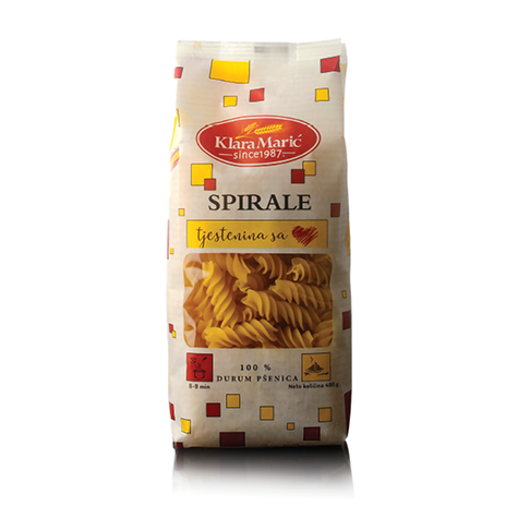 KLARA MARIC Durum Wheat Spirale 12/400g