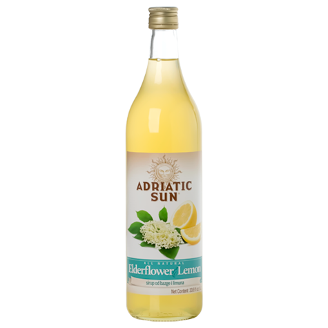 ADRIATIC SUN Syrup Elderflower Lemon 12/1L