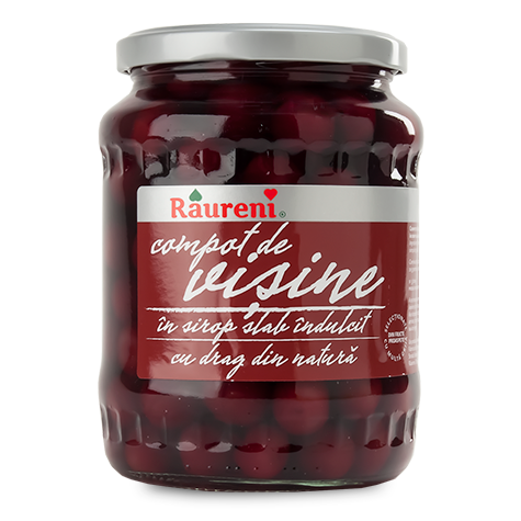 RAURENI Sour Cherry Compote in Syrup 12/720g