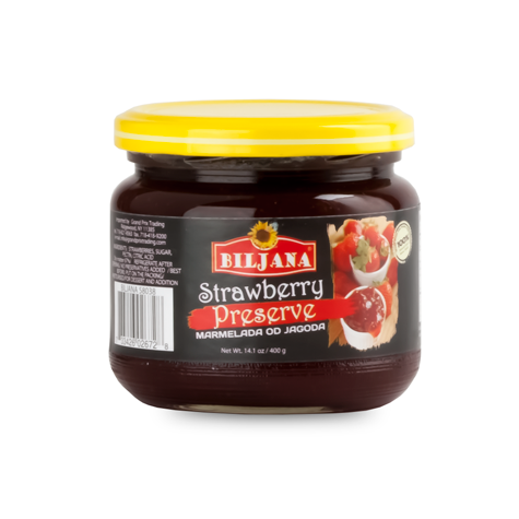 BILJANA Jagoda Strawberry Marmalade 12/400g