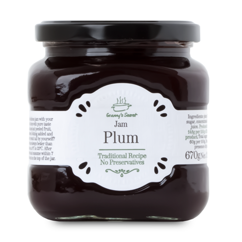 GRANNY'S SECRET Extra Jam Plum 6/670g [24505]