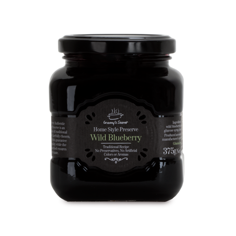 GRANNY'S SECRET Whole Fruit Preserve Wild Blueberry 6/375g [24519]