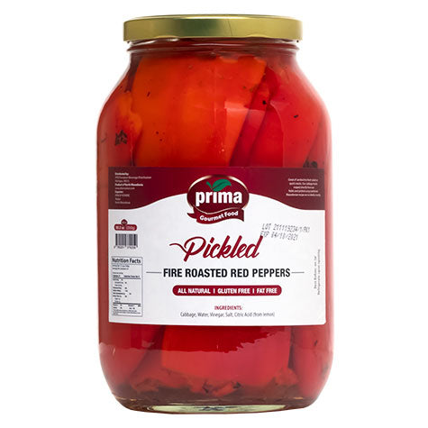 PRIMA Pickled Fire Roasted Red Peppers 4/2500g