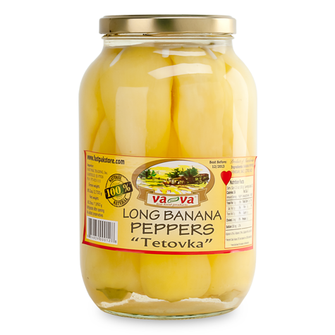 va-va Tetovka Long Banana Peppers 6/1850g