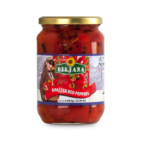 BILJANA Macedonian Roasted Red Pepper w/garlic 12/680g