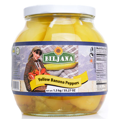 BILJANA Yellow Banana Peppers 6/1500g