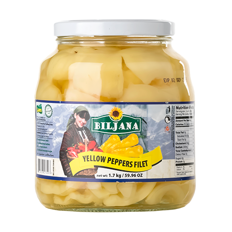 BILJANA Yellow Pepper Fillets 6/1700g