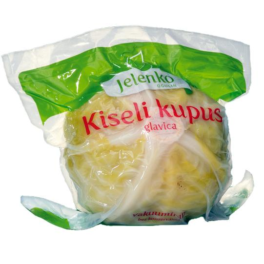 JELENKO Kiseli Kupus [Pickled Cabbage Heads] (approx 21 lb/cs)
