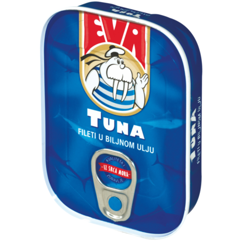 EVA Light Tuna Fillets in Vegetable Oil 30/115g [22037]
